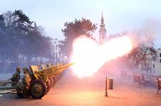 Почасна артиљеријска паљба поводом Дана државности