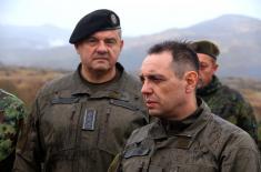 Ministar Vulin: Svi pripadnici Vojske Srbije spremni i motivisani za svaki zadatak