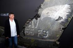"""Фудбалери и руководство """"Партизана"""" посетили изложбу """"Одбрана 78"""""""