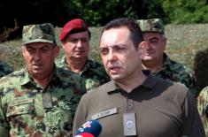 Minister Vulin: Armed Forces cannot be created overnight
