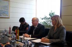 Meeting of State Secretary Živkovića and Ambassador of Myanmar