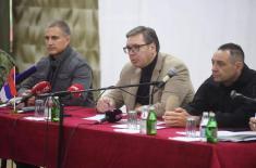 President Vučić Met Representatives of Kosovo Serbs