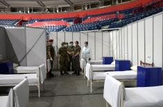 Minister Vulin: In accordance with the order of the President and Supreme Commander Vučić, the Serbian Armed Forces have prepared the Arena for the reception of patients