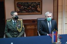 Minister Stefanović meets with Ambassador of Slovakia Rosocha