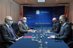 Minister Stefanović meets with Austrian Ambassador Lutterotti