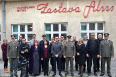 "Minister Vulin Visited MFC ""Zastava Film"""