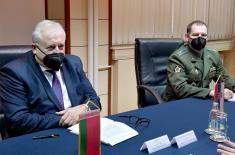 Састанак министра Стефановића са амбасадором Белорусије Бриљовим