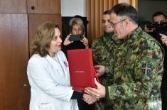 Minister Vulin: We are grateful to civilian healthcare service for helping the Serbian Armed Forces