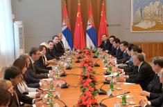 Meeting with Chinese president
