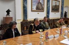 Састанак министра одбране са замеником начелника Штаба одбране Оружаних снага Уједињеног Краљевства
