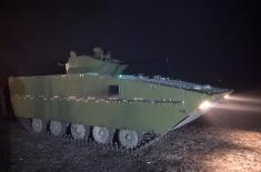 Testing of a modernised infantry fighting vehicle IFV M-80A and shooting under low light conditions