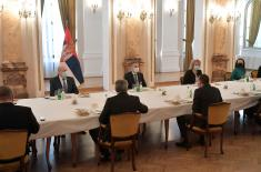Minister Stefanović at the work meeting with members of the National Assembly's Committee on Defence and Internal Affairs