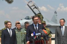 President Vučić: Mighty and strong wings over Serbia