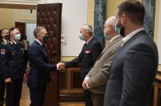 Reception given by Minister of Defence and Chief of General Staff on the occasion of Veterans' Day
