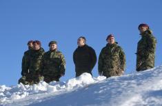 Министар Вулин: Војска Србије је спремна да и у тешким временским условима одговори на свако наређење