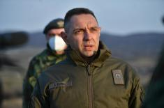 "Minister Vulin at the ""Pasuljanske livade"" training ground: We make no compromises when it comes to our combat readiness"