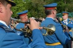 Honorary Artillery Volley to Mark the Serbian Armed Forces Day