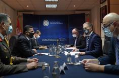 Састанак министра Стефановића са амбасадором Египта Алгувејлијем