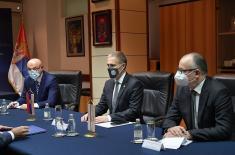 Састанак министра Стефановића са амбасадором Кипра Тефилактуом