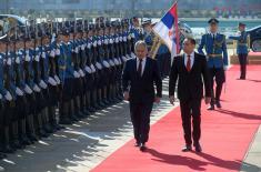 Свечани дочек министра одбране Руске Федерације