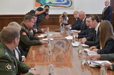 Састанак председника Вучића са министром одбране Републике Белорусије