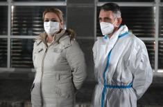 Министар Стефановић обишао привремену ковид болницу у Арени