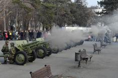 Почасна паљба на Калемегдану поводом Дана државности