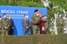 An official farewell for the members of the Armed Forces of the Russian Federation