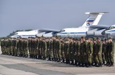 Свечани испраћај припадника Оружаних снага Руске Федерације