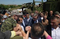 Председник Вучић: За девет месеци двоструко јача Војска Србије