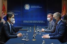 Sastanak ministra Stefanovića sa ambasadorom Republike Koreje Čeom