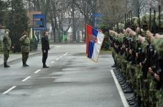 Министар одбране у крушевачкој касарни Цар Лазар