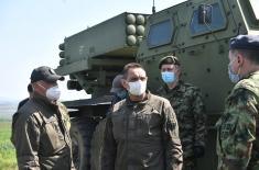 Министар Вулин: Унапређујемо борбену готовост