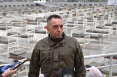 Министар Вулин на Београдском сајму: Војска спрема 3.000 постеља за лечење заражених корона вирусом