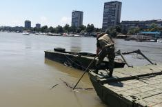 Понтонирци Речне флотиле поставили мост на Лиду