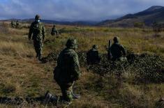 Military volunteers camping at Pasuljanske livade training ground