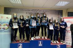 """Nove medalje i državni rekord za strelce Streljačkog kluba Vojne akademije """"Akademac"""""""