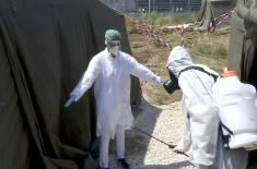 Војно здравство даје пун допринос борби против корона вируса