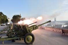 Gun salute fired to mark Serbian Unity, Freedom and National Flag Day