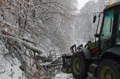 Помоћ Војске Србије у отклањању последица временских непогода