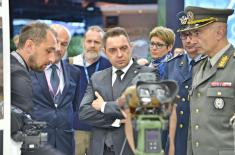 Minister Vulin at the Military Technology Trade Fair in Paris