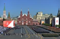 Members of The Guard of the Serbian Armed Forces at the Victory Day Parade in Moscow