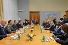 Meeting of President Vučić with Minister of Defence of Republic of Angola