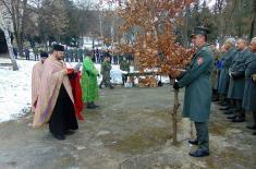 Обележавање Бадњег дана у јединицама Војске Србије
