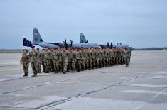 "Welcome for the Paratroopers of the US Armed Forces at the Air Field ""Batajnica"""