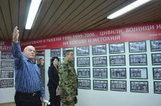"Chief of General Staff Visited Memorial Room ""Kosmet Victims"""