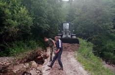 Помоћ Војске Србије у општинама погођеним поплавама