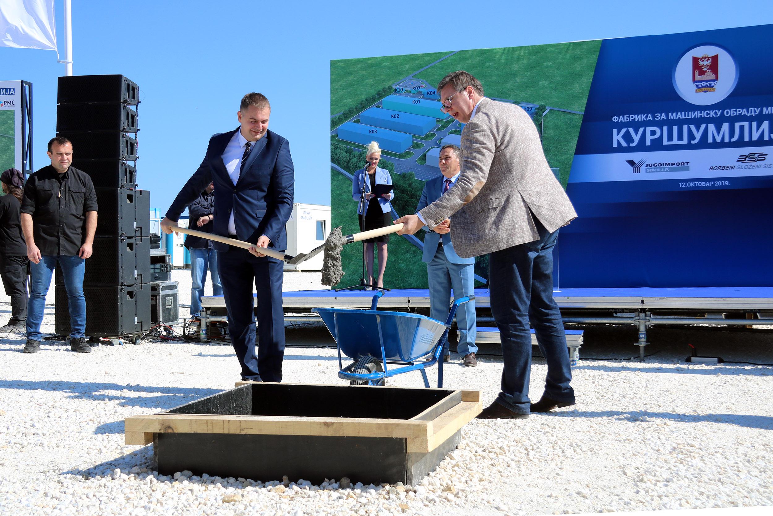 Polozen Kamen Temeljac Za Novu Fabriku Odbrambene Industrije U