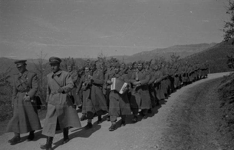 Пешадијска јединица на маршу 1951.
