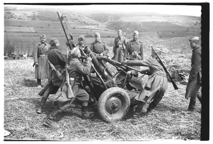 Гађање у артиљеријској јединици 1952. године